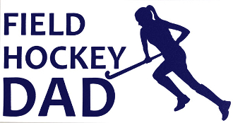 Field Hockey Dad Car Window Decal