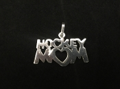 Sterling Silver Field Hockey Mom Charm