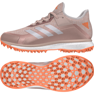 sale retailer b95fa 102dd Adidas Fabela X Hockey Shoes 2018 Peach